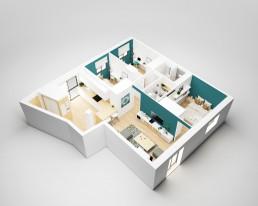 Visualización 3D - Reforma Córdoba - Perspectiva